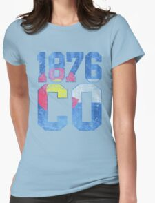 Vintage Colorado Flag Est 1876 Womens Fitted T-Shirt