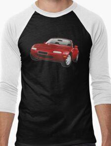 Mazda MX-5 Miata red Men's Baseball ¾ T-Shirt