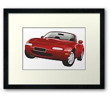 Mazda MX-5 Miata red Framed Print