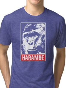 Harambe - Rest in Peace Tri-blend T-Shirt