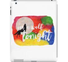 I'm A Wolf Tonight iPad Case/Skin