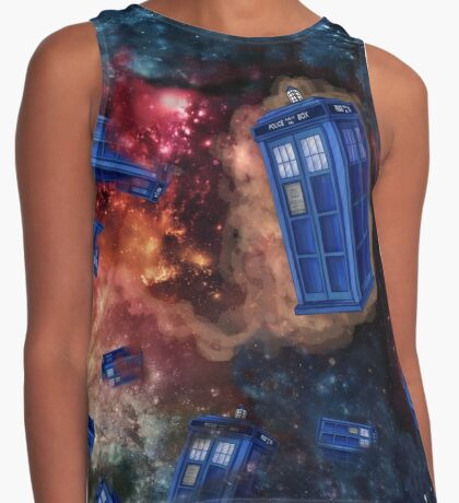 Police Box in Space Contrast Tank