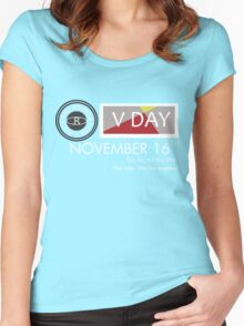 Support V-Day Women's Fitted Scoop T-Shirt