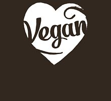 Vegan Love (white print) Unisex T-Shirt