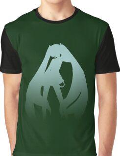 Hatsune Miku Minimalist Fade Graphic T-Shirt