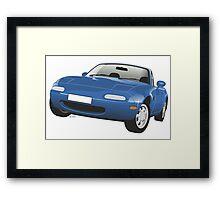 Mazda MX-5 Miata blue Framed Print
