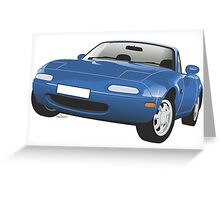 Mazda MX-5 Miata blue Greeting Card