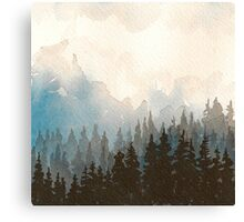 Pause Watercolor Canvas Print