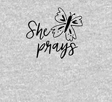 She Prays Womens Fitted T-Shirt