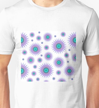Pattern of mandalas in pink and green Unisex T-Shirt