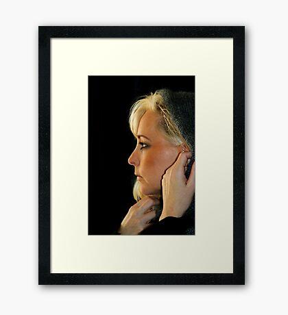 Blond Woman Framed Print