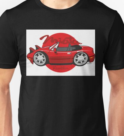 Mazda Miata cartoon red Unisex T-Shirt