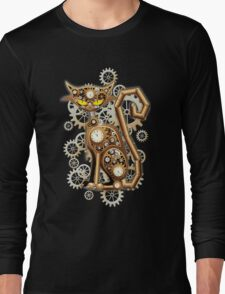 Steampunk Cat Vintage Copper Toy Long Sleeve T-Shirt