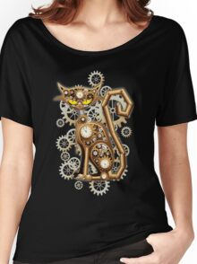 Steampunk Cat Vintage Copper Toy Women's Relaxed Fit T-Shirt