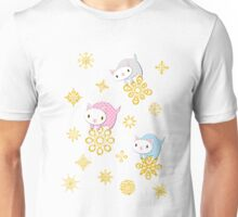 Sparkly Snowflakes and Cat's Pajamas Unisex T-Shirt