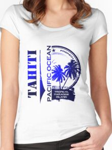 TAHITI Party Paradise Island Women's Fitted Scoop T-Shirt