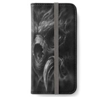demon face with lettering iPhone Wallet/Case/Skin