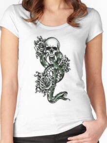 Death ink Women's Fitted Scoop T-Shirt
