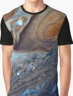 Closeup of the great red spot on Jupiter, space exploration Graphic T-Shirt