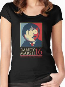 Randy Marsh 16 Women's Fitted Scoop T-Shirt