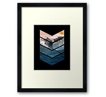Sunrise Surfer Framed Print