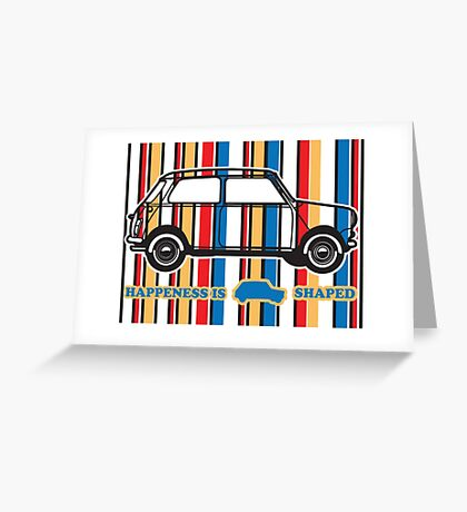 Happiness Is Mini shaped Greeting Card