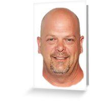 Giant Floating Rick Harrison's head Greeting Card
