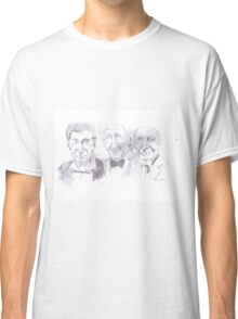 the first three doctors Classic T-Shirt