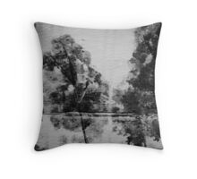 Trees painted on cardboard Throw Pillow