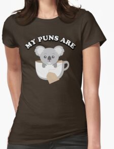 My puns are Womens Fitted T-Shirt