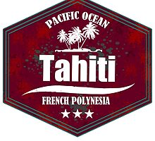 TAHITI Pacific Ocean Emblem by dejava