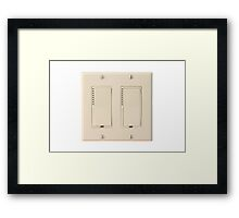 Wall Switch Framed Print