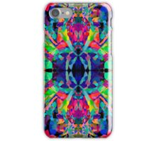 Abstract Psychedelic Rainbow Gem on Black iPhone Case/Skin