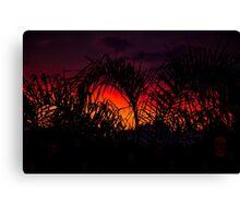 creepy sunset Canvas Print
