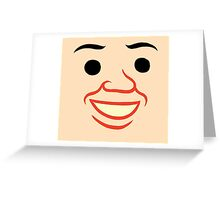 Zonzo  creepy face Greeting Card