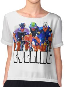Cyclist Tee Shirt by Sachse Chiffon Top