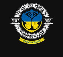 People of Tomorrowland country Flags logo Badge - Ukraine - Ukrainian - Украiна - украiнськиn - Ukrainien Unisex T-Shirt
