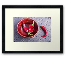Fruits chilli hot red pepper Framed Print