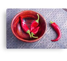 Fruits chilli hot red pepper Canvas Print