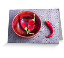 Fruits chilli hot red pepper Greeting Card