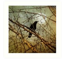 THE CROW AND THE MOON Art Print
