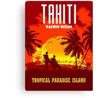 TAHITI Tropical Paradise Island Canvas Print