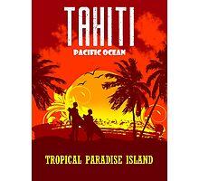 TAHITI Tropical Paradise Island Photographic Print