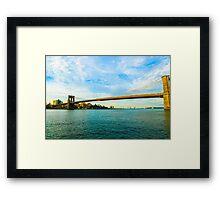 Brooklyn Bridge In  New York City Framed Print