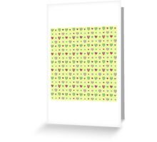 For the love of Watermelon - yellow background Greeting Card