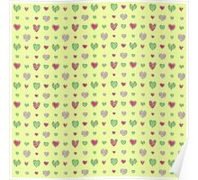 For the love of Watermelon - yellow background Poster