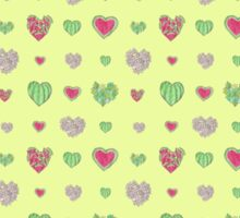 For the love of Watermelon - yellow background Sticker