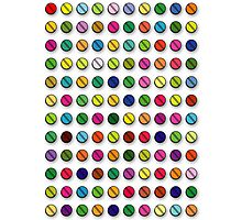 Multi-coloured Pills Pattern Photographic Print