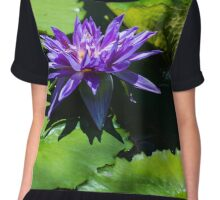 Purple Water Lily Chiffon Top