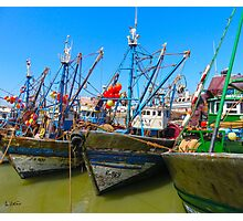 Moroccan fishing boats  Photographic Print